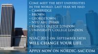 Nordic Study Abroad Conference 2013 er på udkig efter studerende