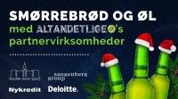 Øl og smørrebrød med Deloitte, HBS, Nykredit og Zangenberg