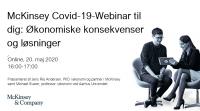 Covid-19-webinar med McKinsey og professor Michael Svarer
