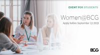 Women@BCG – One BCG, Many Paths