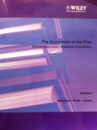 The Economics of the Firm af Besanko, Pratt, Jones
