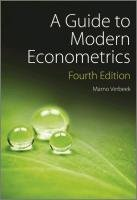 A guide to modern econometrics af Marno Verbeek