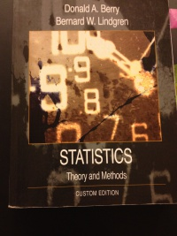 STATISTICS Theory and Methods af Donald A Berry & Bernard W Lindgren